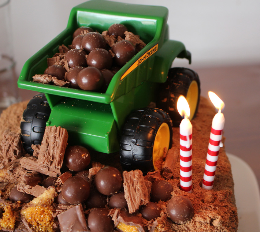 Dump Truck Birthday Cake ~ Maybe Baby Brothers